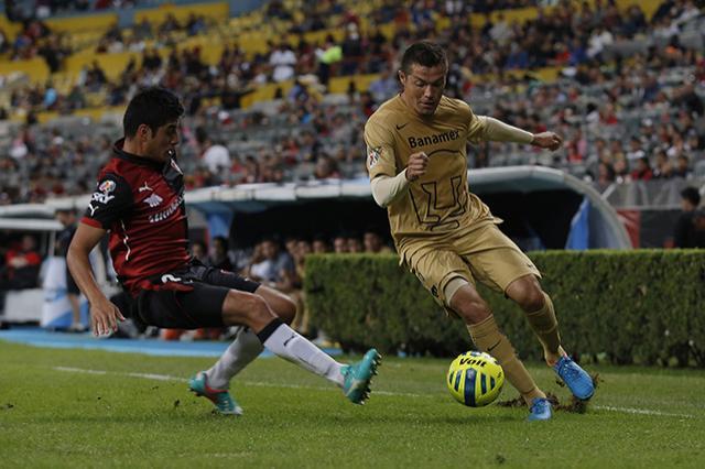 Pumas rescata un empate a un gol con el Atlas en el estadio Jalisco, goles de Barragán y Alcoba
