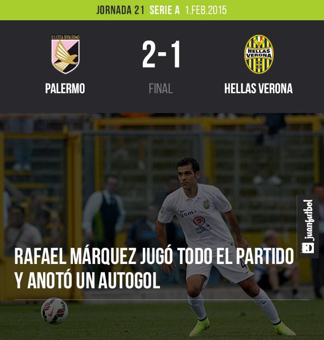 Rafael Márquez en la derrota del Hellas