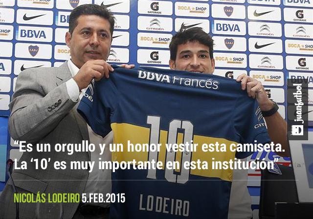 Nicolás Lodeiro está contento por usar la camiseta 10 en Boca Juniors