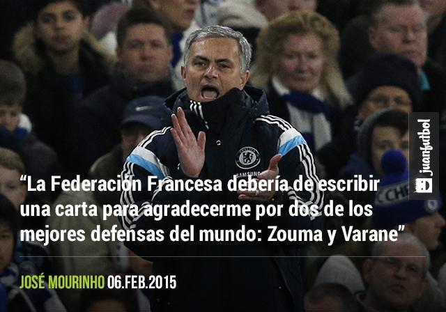 Mourinho piensa que Francia debería de agradecerle por descubrir a los mejores defensas del mundo: Zouma y Varane