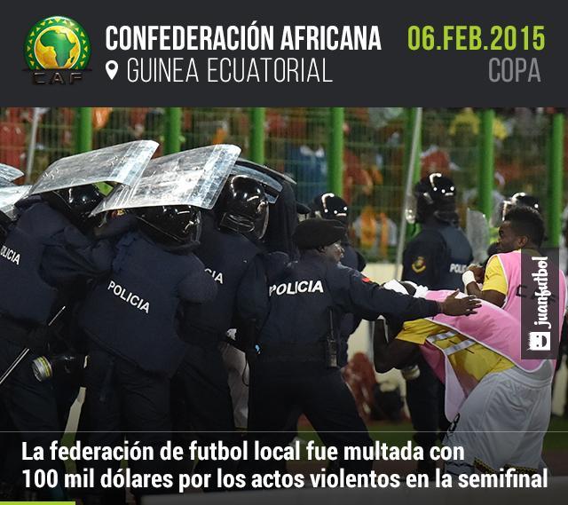 Guinea, multada por actos violentos durante la semifinal ante Ghana en la que quedaron eliminados