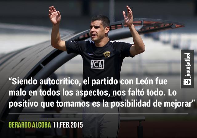 Alcoba habla del partido con León y las posibilidades de mejorar.