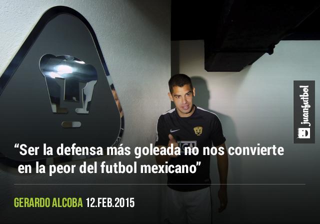 Alcoba dice que aún con los goles recibidos la defensa de Pumas no es la peor del torneo.