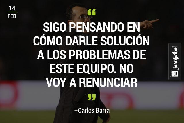 Carlos Barra sigue buscando la solución para su Monterrey y resaltó que no va a renunciar.
