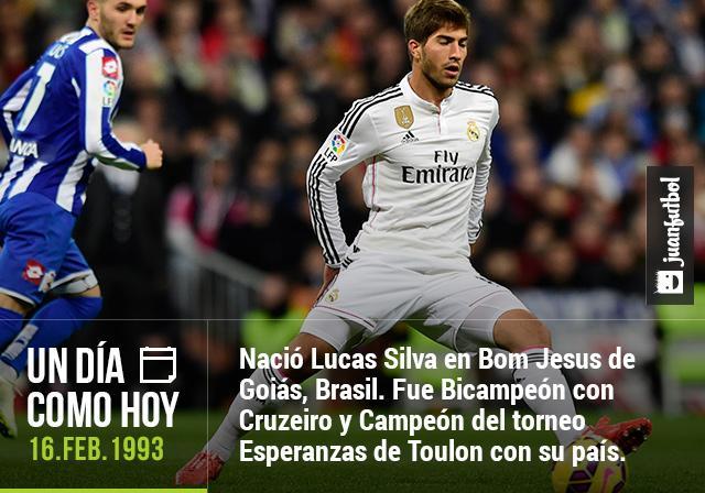 Un 16 de febrero de 1993 nació Lucas Silva, Bicampeón con Cruzeiro y Campeón del torneo Esperanzas de Toulon con Brasil