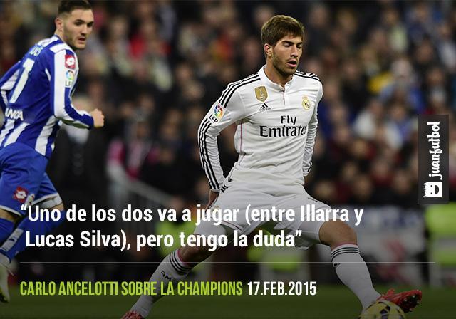 Ancelotti no sabe si Illarra o Lucas Silva jugarán ante el Schalke 04 en Champions League