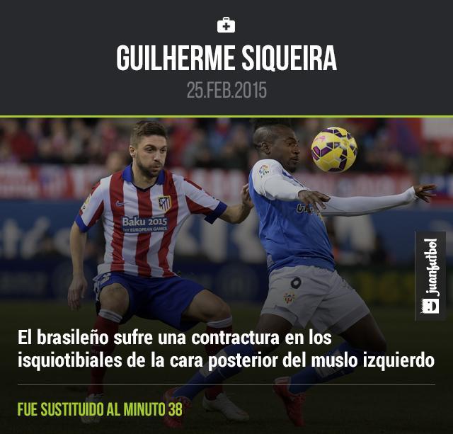 Siqueira se fue lesionado ante el Leverkusen
