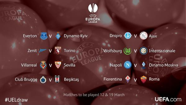 Sorteo de Europa League Octavos de Final