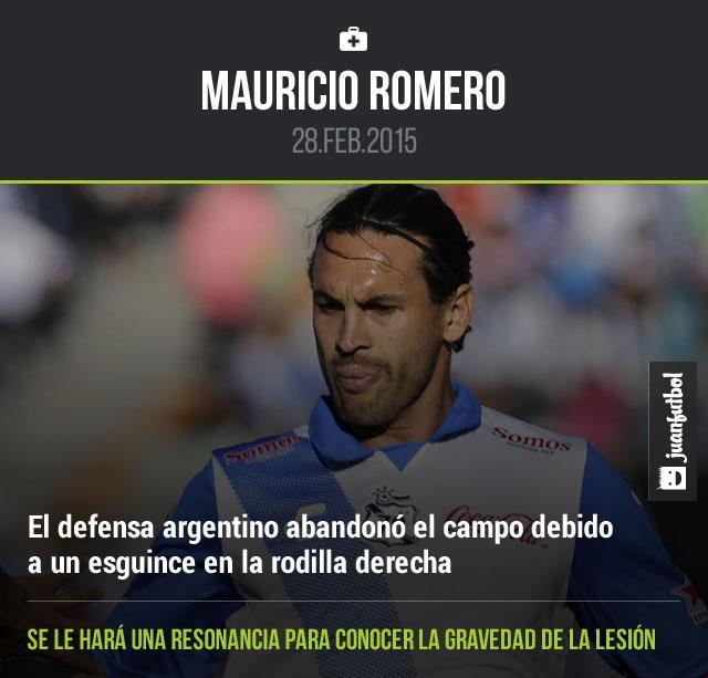 Mauricio Romero salió lesionado de la rodilla derecha tras una mala caída