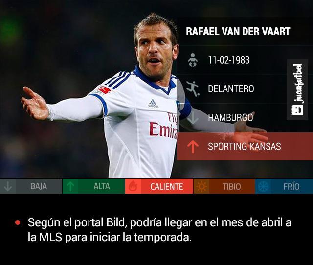 Según el portal Bild, Rafael van der Vaart podría llegar en el mes de abril a la MLS con el Sporting Kansas City