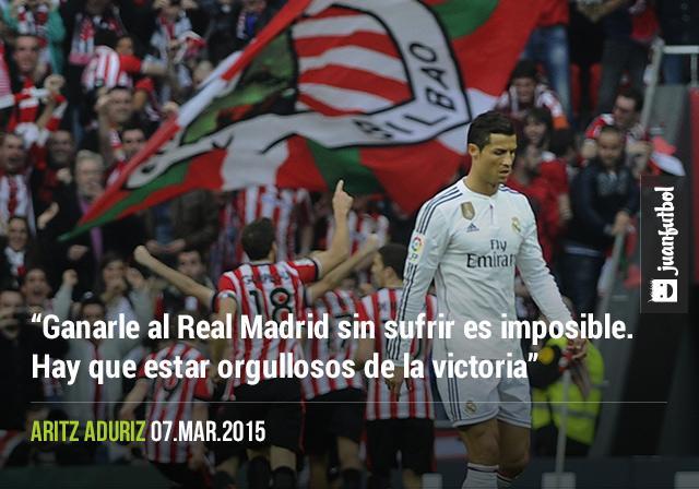 """""""Ganarle al Real Madrid sin sufrir es imposible. Hay que estar orgullosos de la victoria"""", Aritz Aduriz"""