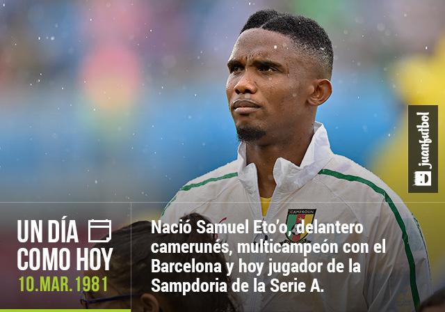 Cumpleaños de Samuel Eto'o.