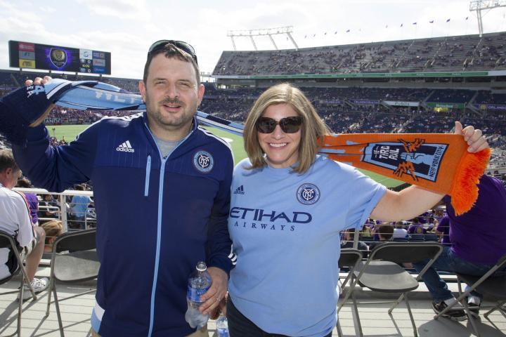 Aaficionados del NYCFC en su debut en la MLS