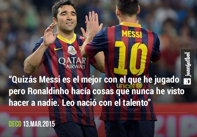 Deco habló sobre Leo Messi.