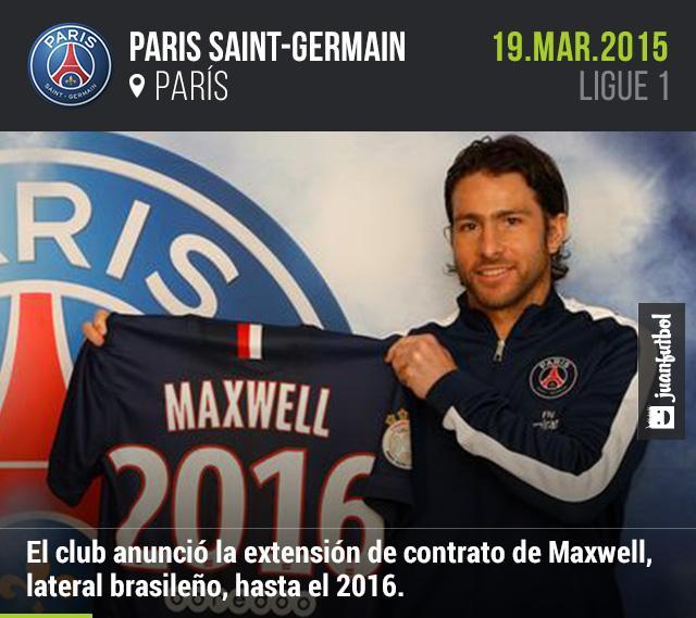 Maxwell firma extensión de contrato con el PSG