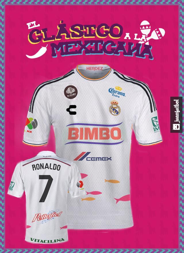 Así sería la camiseta del Madrid si jugara en la Liga MX