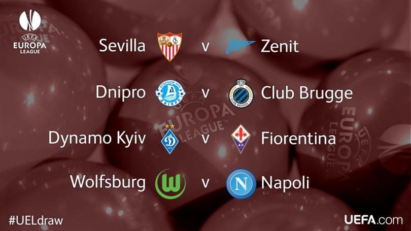 El sorteo de la Europa League deja dos partidos claves; Sevilla contra Zenit y Wolfsburg contra Napoli
