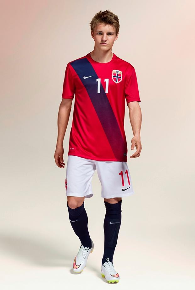 Nike presenta las nuevas camisetas de Noruega con Odegaard como figura.