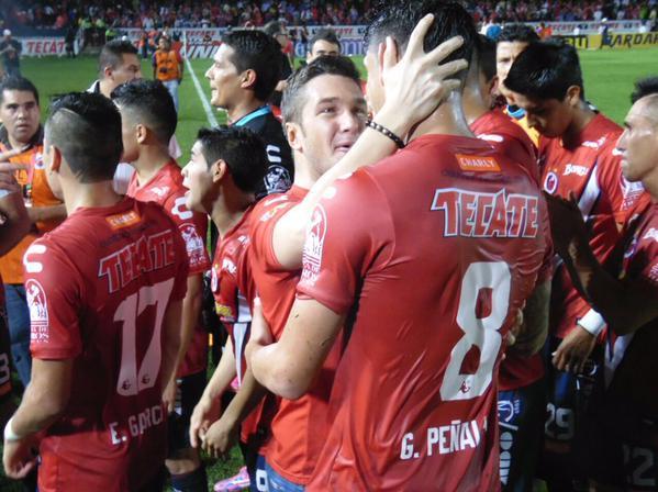 Peñalba festejando la victoria