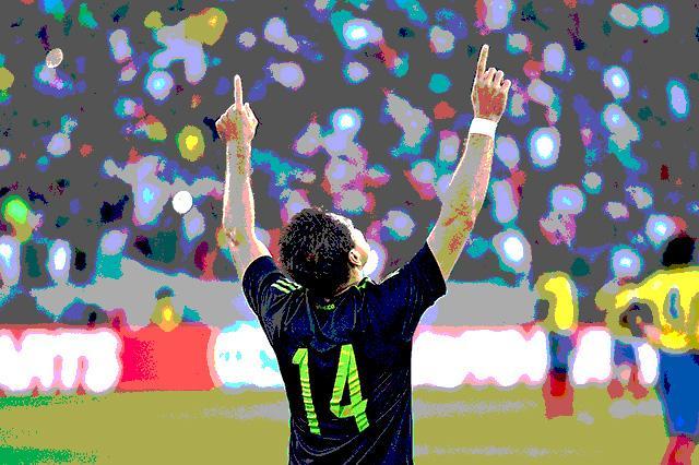 Javier Hernández marcó un golazo en el triunfo de México