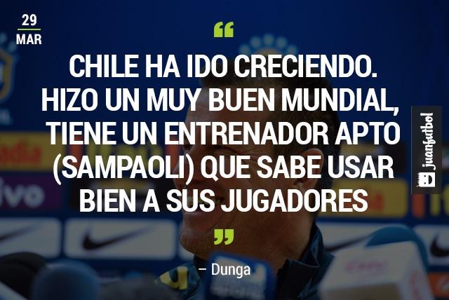 Dunga reconoce a Chile