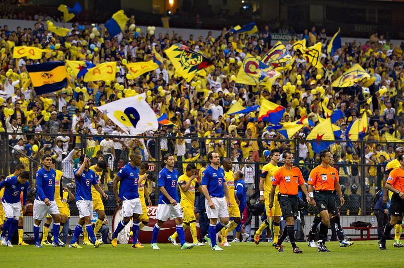 Cinco golazos en Clásicos Jóvenes jugados en el Estadio Azteca con motivo del duelo entre cementeros y águilas de la jornada 12 del Clausura 2015.