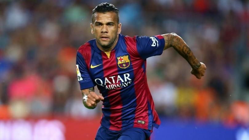 Dani Alves, jugador del Barcelona.