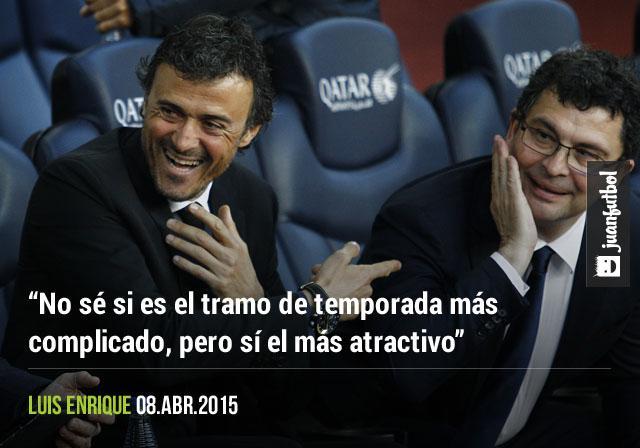 Luis Enrique, técnico del Barcelona, considera que el tramo de temporada que sigue es el más atractivo.