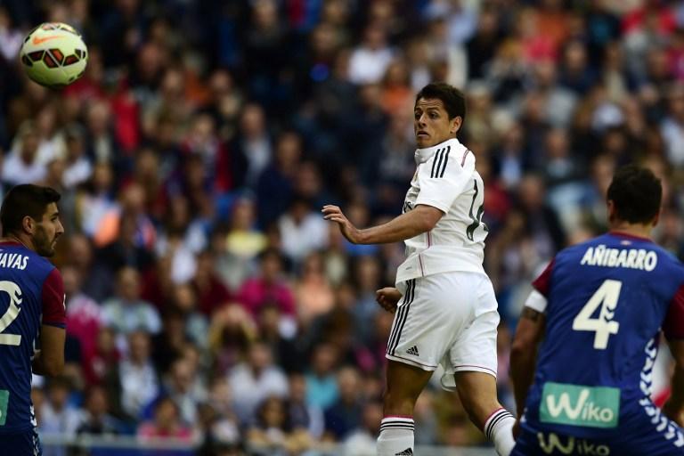 Chicharito Hernández anotó su primer gol en el Bernabéu y se une al 'club' de Hugo Sánchez, Cuauhtémoc Blanco y Giovani dos Santos