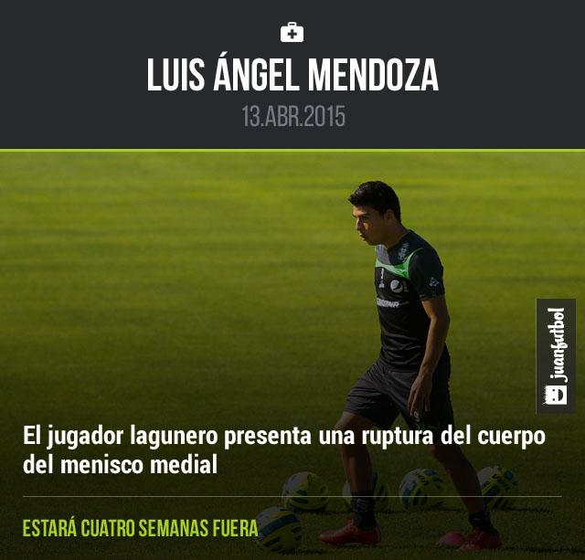 Luis Ángel Mendoza durante un entrenamiento de Santos Laguna