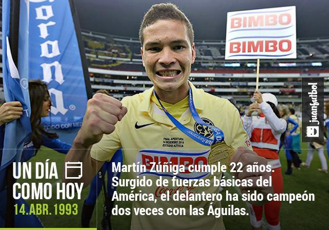 Martín Zúñiga, delantero del América, cumple 22 años