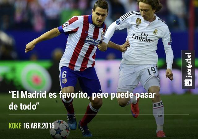 Koke está consciente que nada está definido en la serie de cuartos de Champions League entre Atlético y Real Madrid