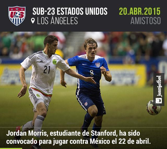 Jordan Morris ha sido convocado por la selección sub-23 de Estados Unidos para enfrentar a México en Los Ángeles.