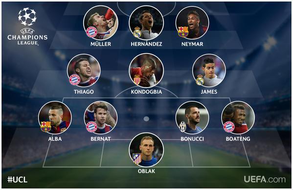 Chicharito aparece en el equipo ideal de la UEFA.