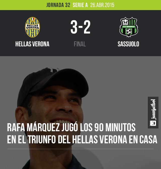 Hellas Verona 3-2 Sassuolo
