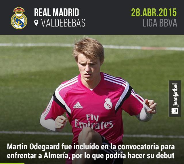 Con tan sólo 16 años, Martín Odegaard podría debutar con Real Madrid ante Almería