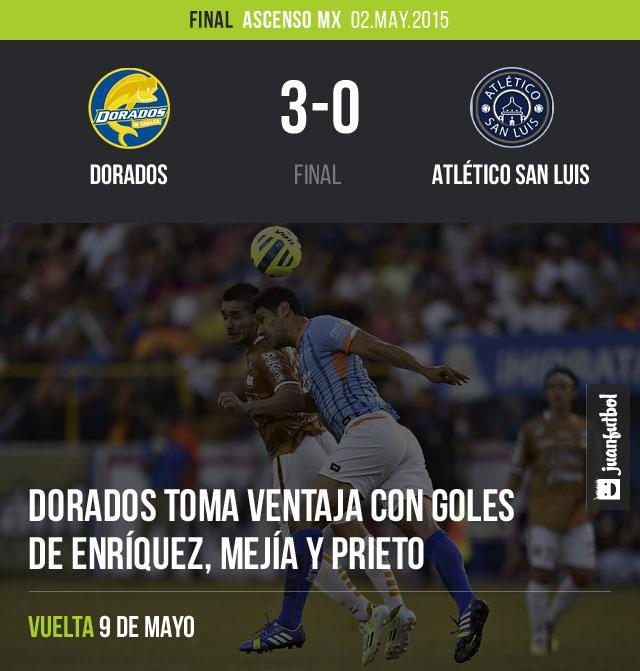 Dorados dio cuenta de San Luis en la ida de la final del Ascenso MX