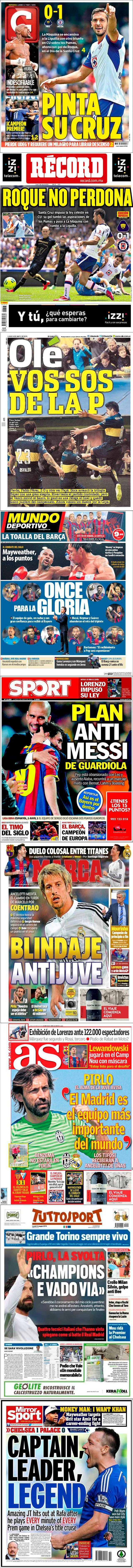 La prensa deportiva más importante del 4 de mayo de 2015.