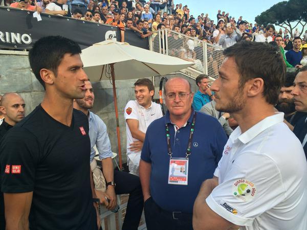 Totti y Djokovic