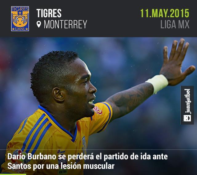 Darío Burbano se pierde el juego de ida de cuartos de final ante Santos