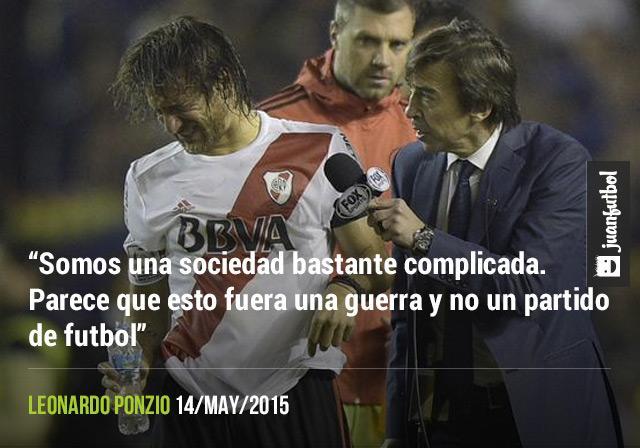 Leonardo Ponzio, jugador de River Plate, fue quien resultó más afectado por el gas pimienta arrojado en el partido de Copa Libertadores