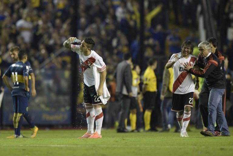 Incidentes en el Boca vs. River provocaron la suspensión del partido