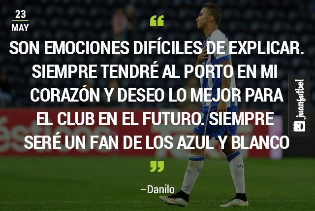 Danilo se despidió del Porto antes de unirse a su nuevo club, el Real Madrid.