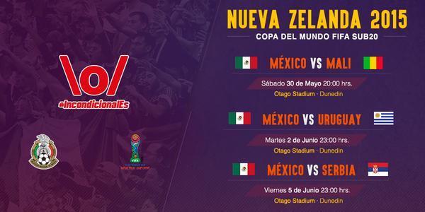 Partidos de la Selección Mexicana en la Copa del Mundo sub 20
