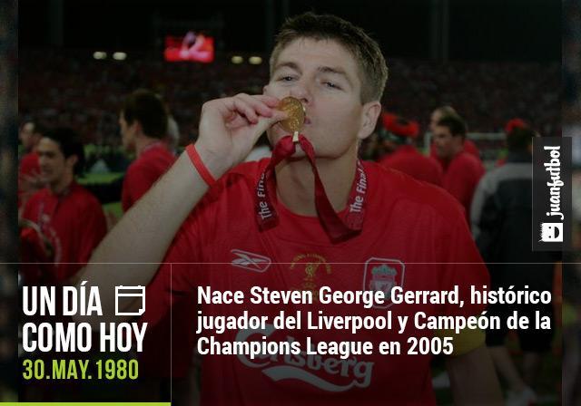 Steven Gerrard cumple 35 años este 30 de mayo de 2015