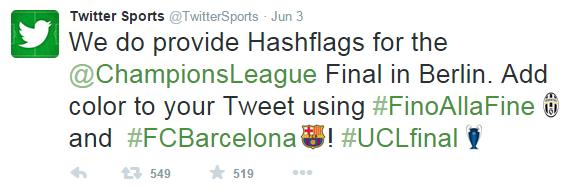 Twitter habilita íconos especiales para la Champions League
