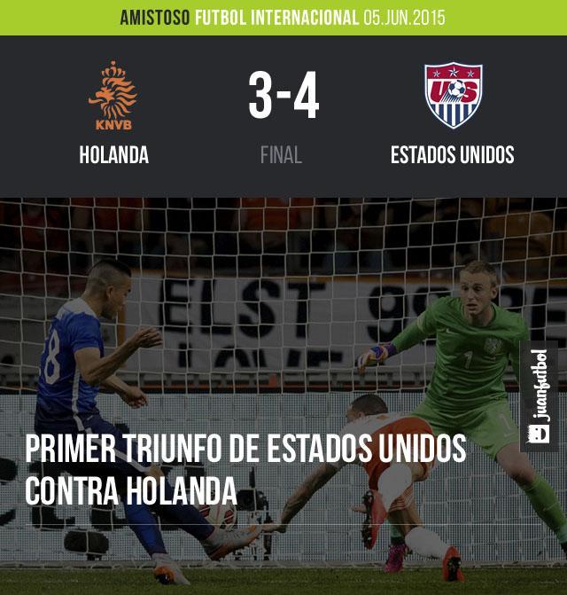 Estados Unidos consiguió su primera victoria frente a Holanda