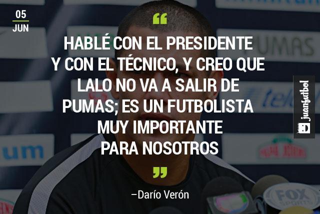 Darío Verón aseguró que Lalo Herrera se queda en Universidad