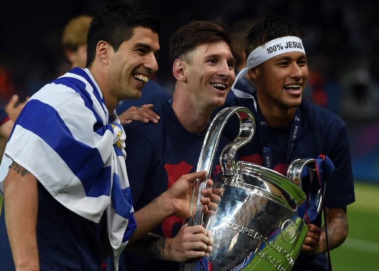 El tridente del Barcelona es incluido en el equipo ideal de la Champions League