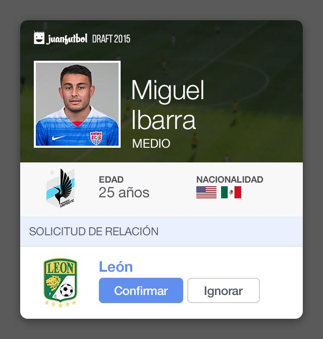 Miguel Ibarra estaría en la órbita de León para el Apertura 2015.